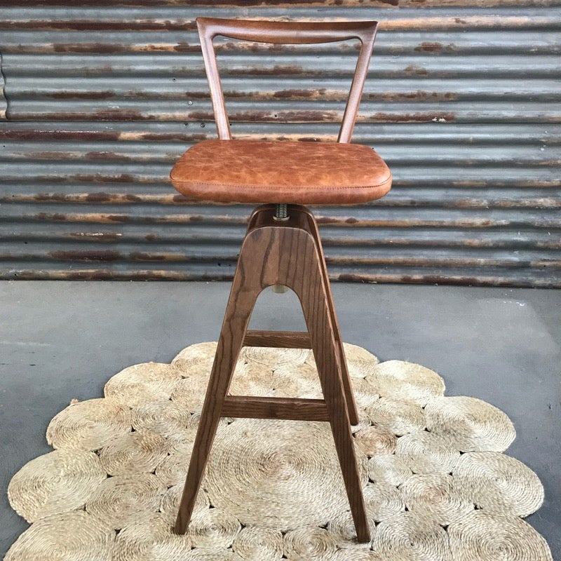 Image of TH Brown Danish Bar stool ~ Dark Ash ~