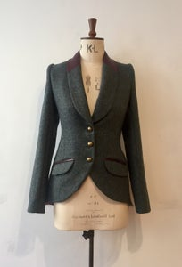 Image of Leather shawl collar Agnes jacket