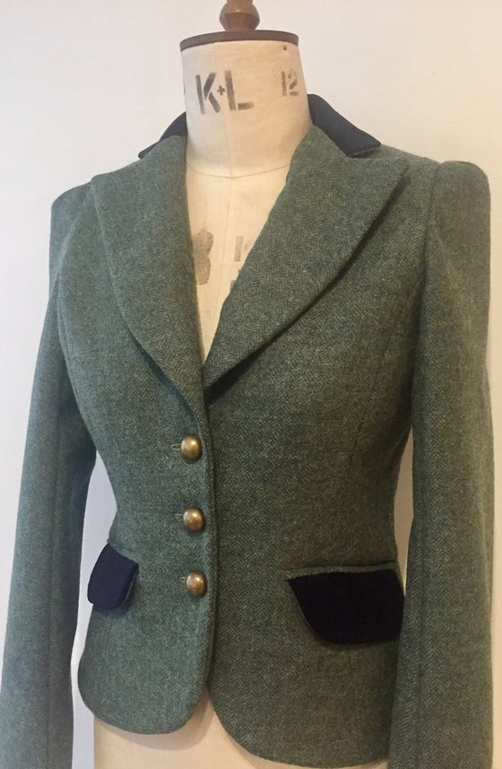 Image of Tweed and velvet Miss DuPont jacket