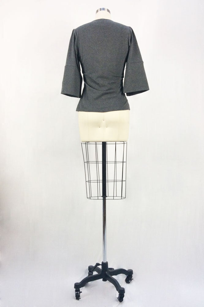 Image of Fitted Cubist Top (Gray)