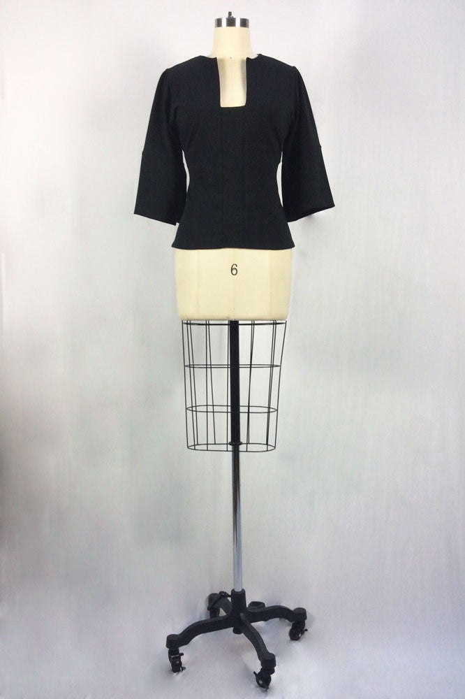 Image of Fitted Cubist Top (Black)