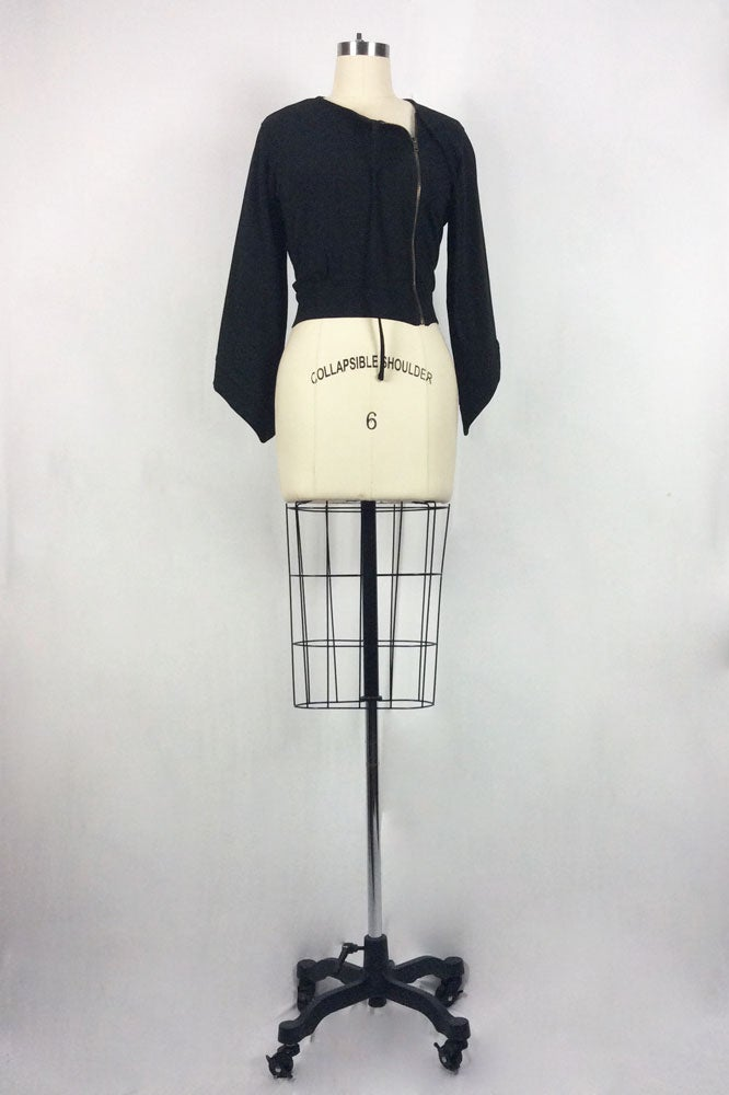 Image of Willamina Zip Jacket (Black)