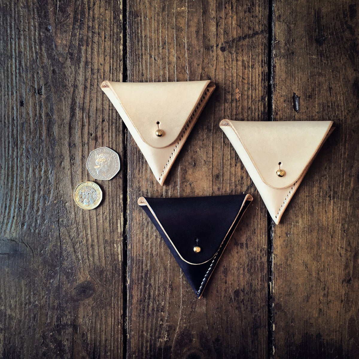 Image of Triangle Coin Case by Ruth Pullan.