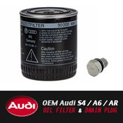 Image of OEM Audi S4 / A6 / Allroad 2.7T Oil Filter/Drainplug/Crushwasher