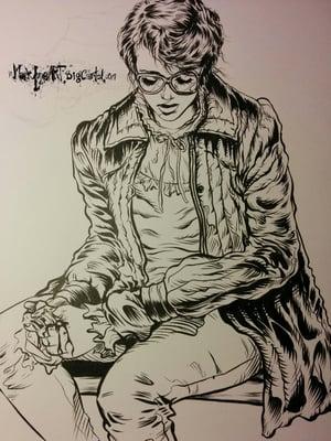 Image of Barb's last moments OG original hand inked art