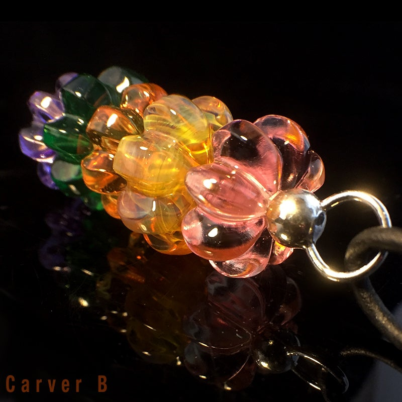 Image of Chakra Carved Bead Pendant