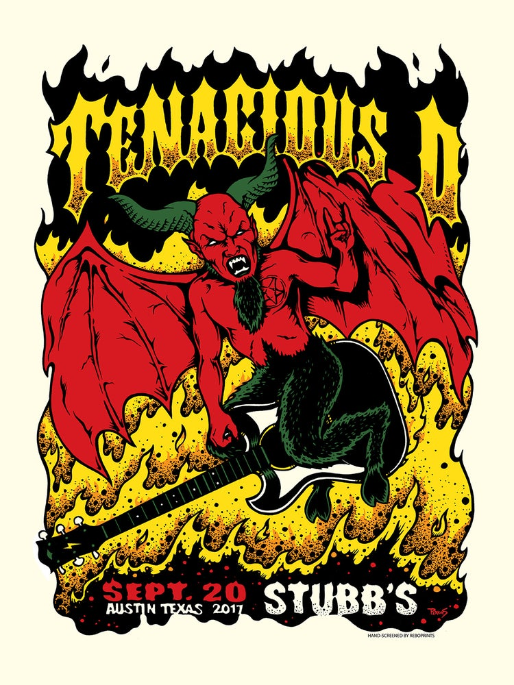Image of Tenacious D - Official gig poster