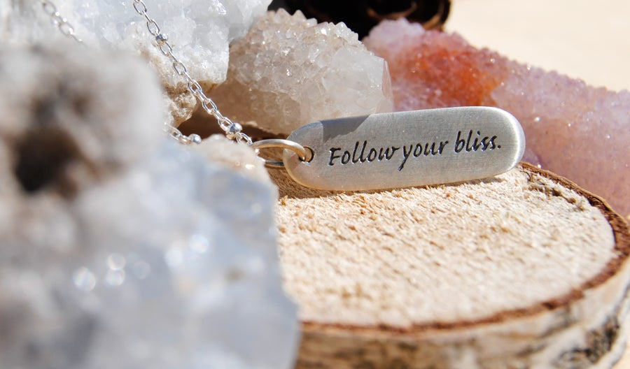 Image of Follow your bliss necklace