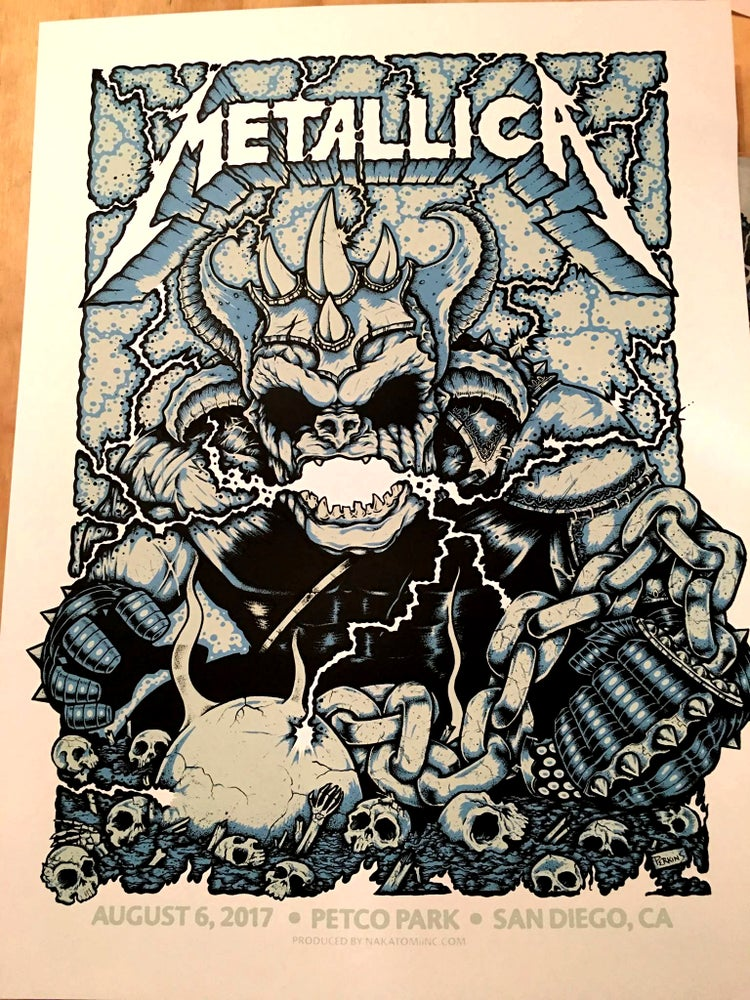 Image of Metallica - San Diego 2017 official VIP poster