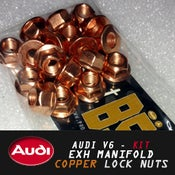 Image of PROJECTB5 - AUDI V6 Exh Manifold Copper Lock Nuts