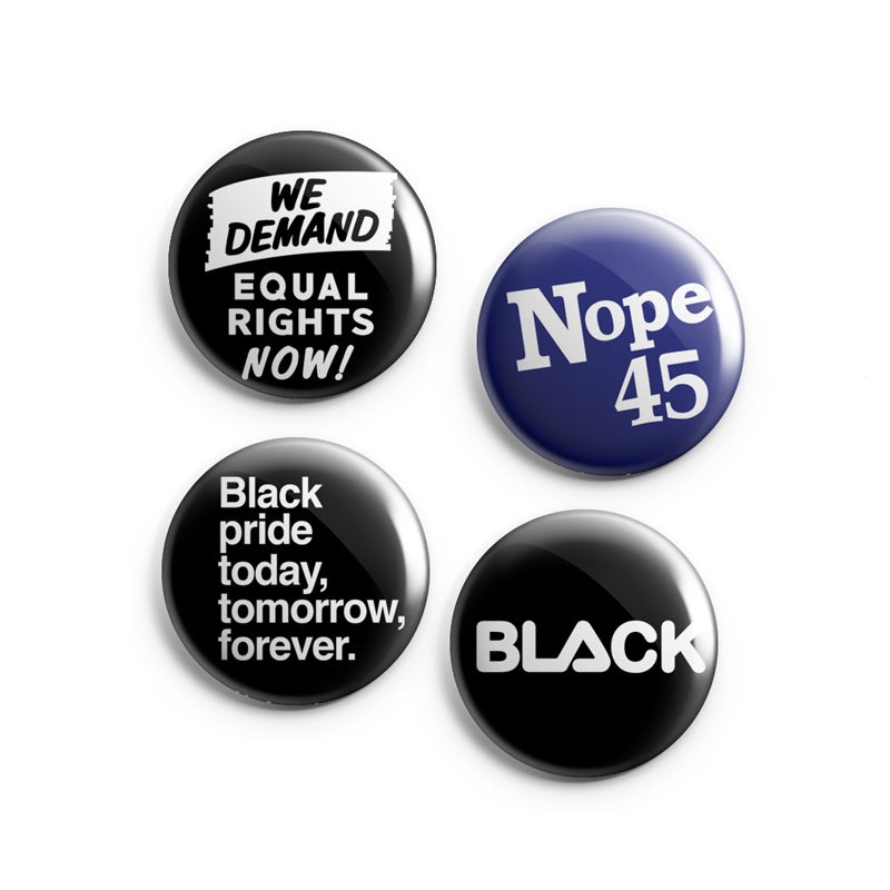 Image of Forever Black Button 4-Pack