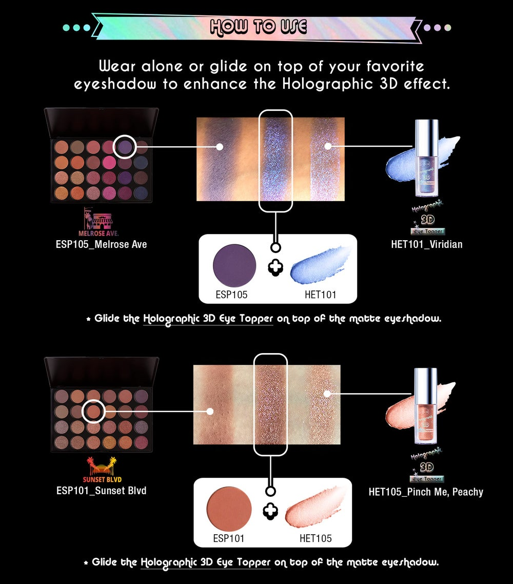 Image of Holographic 3D liquid Eyeshadow