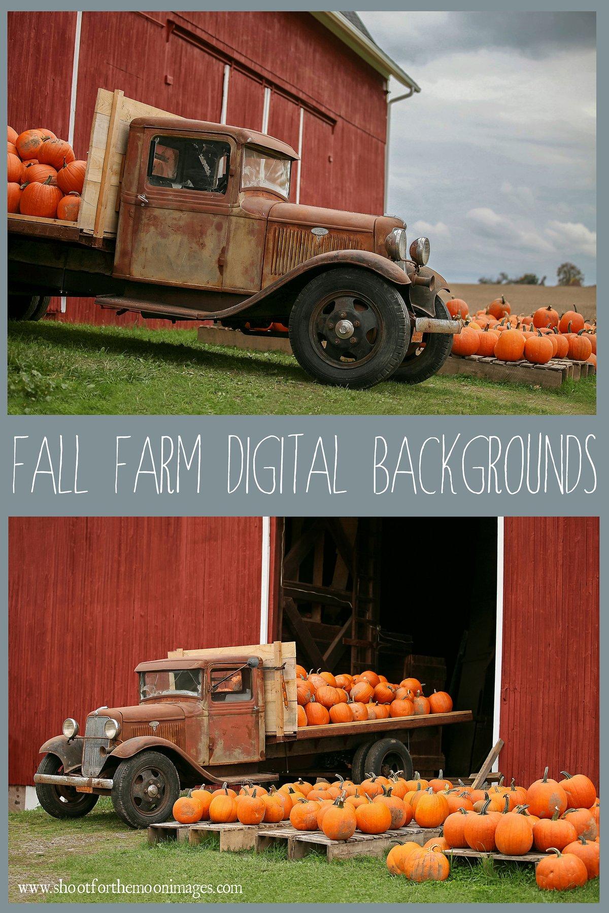 Image of Fall Farm Digital Backgrounds