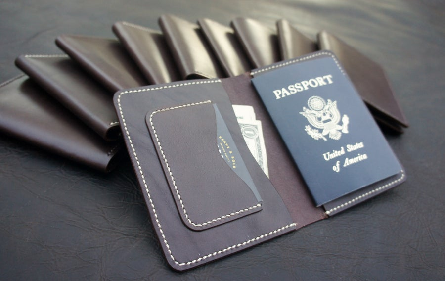 Image of Dark brown Passport cover