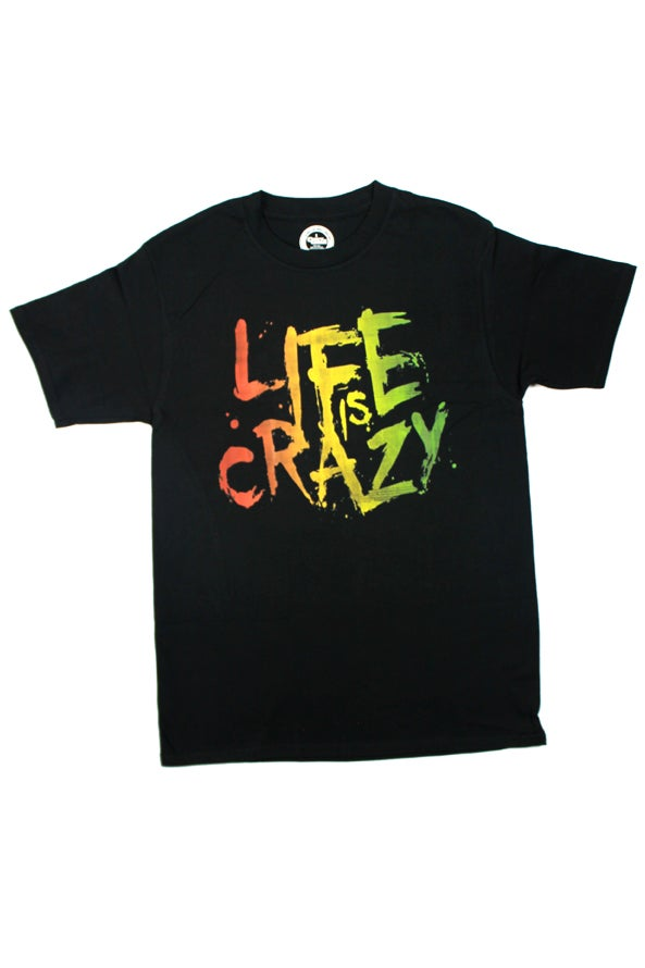 Image of Life Is Crazy Rasta Tee