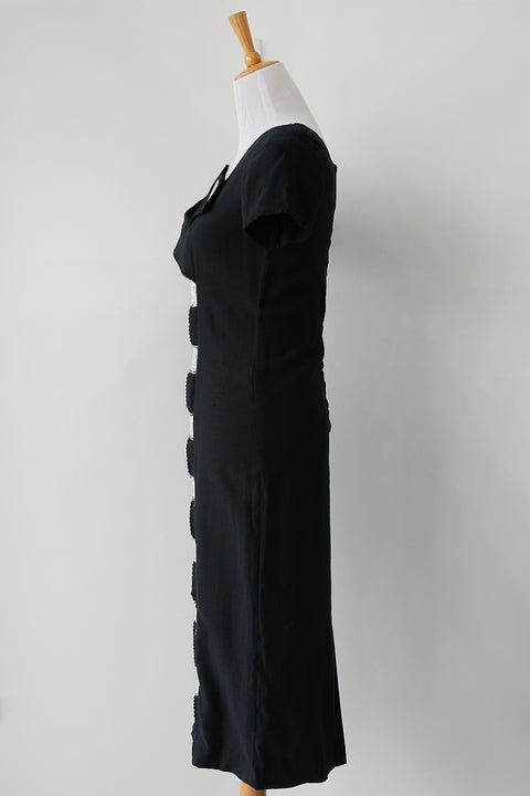 Image of 1950s Cat Eye Peekaboo Lace Wiggle Dress