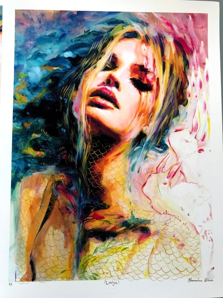 Image of Evelyn Hand Embellished Limited Edition Print by Charmaine Olivia