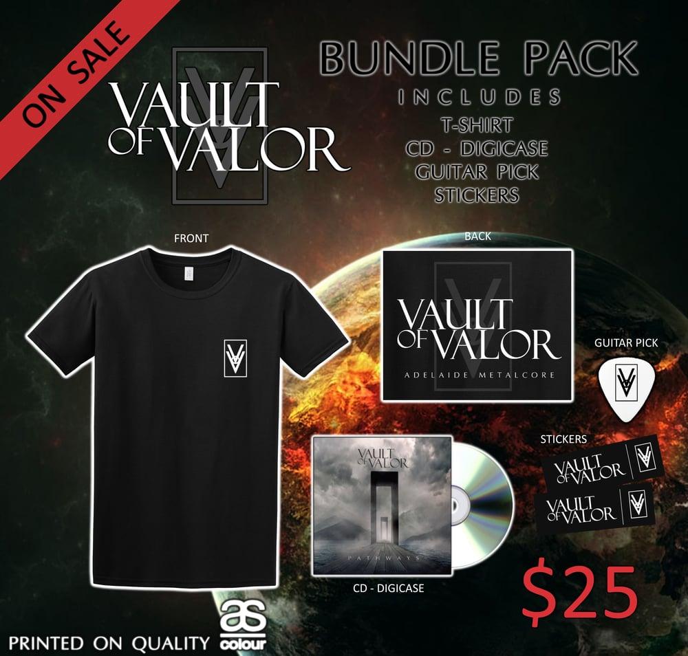 Image of Vault of Valor T-Shirt & CD Bundle