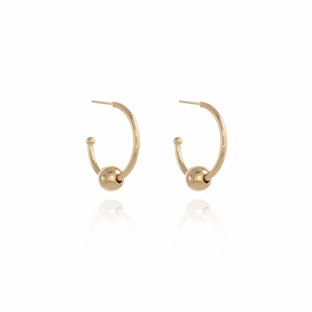 Image of Gold Piercing Hoop L