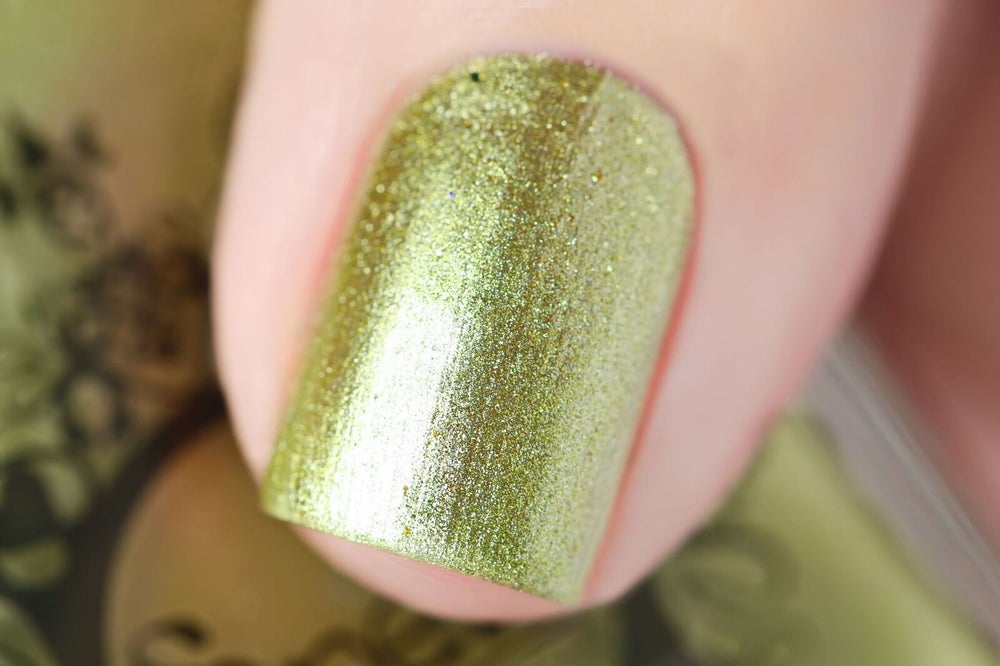 Image of ~Gold Digger~ lemon yellow gold metallic chrome Duds III!