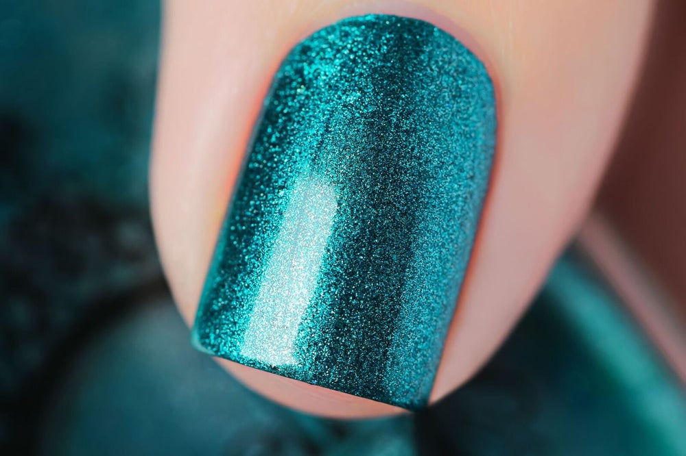 Image of ~Vagabond~ rich, vibrant teal green metallic chrome Spell Polish!