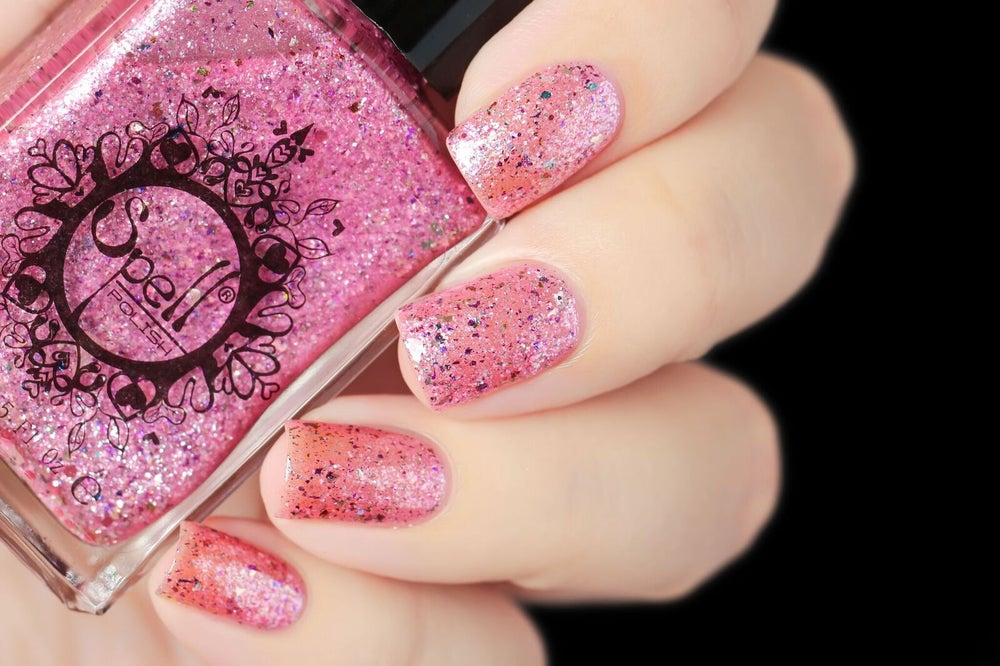 Image of ~Whippersnapper~ pale pink chrome w/multichrome & silver flakes and a dash of glitter!
