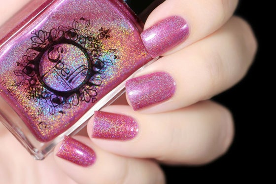 Image of ~Chump~ cool rose pink linear holo nail polish Duds III!