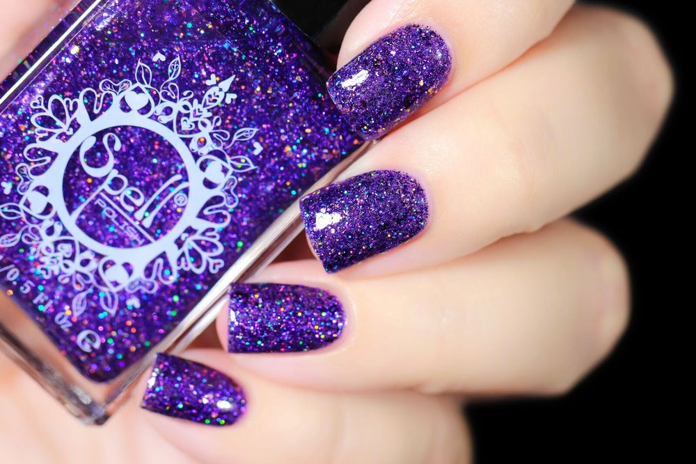 Image Of Manther Purple Jelly W Multichrome Flakes Microglitters And Opal Glitters