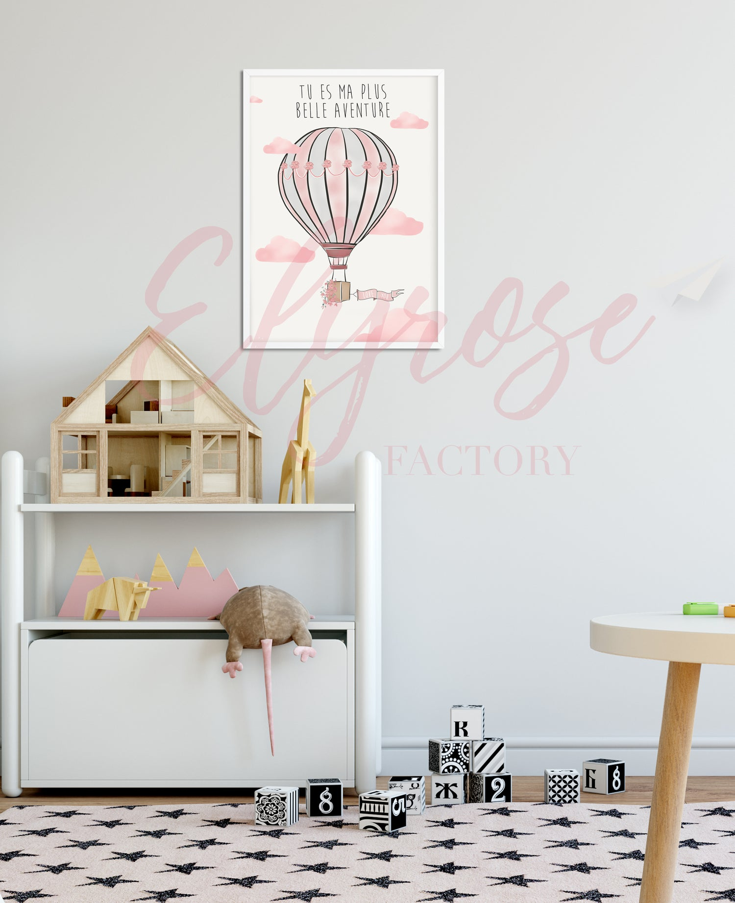 Image of Affiche voyage - Ma plus belle aventure Rose