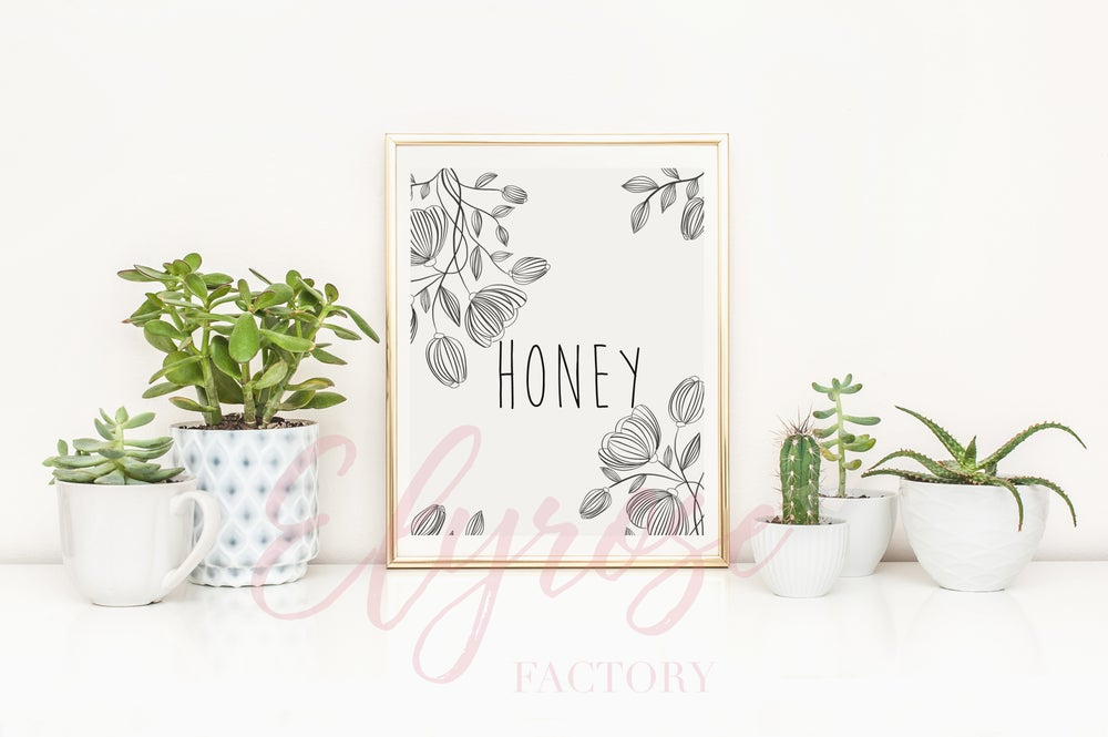 Image of Affiche Surnom - Honey