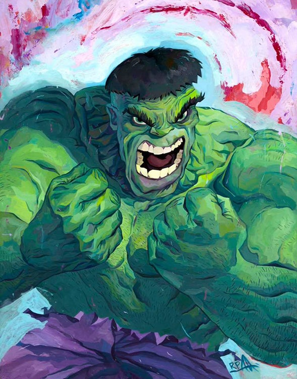 Image of Hulk Original Painting