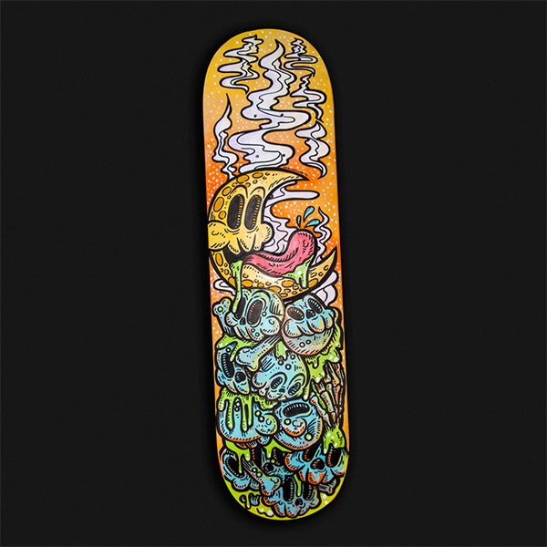 Image of Good Night Moon – Painted Skate Deck