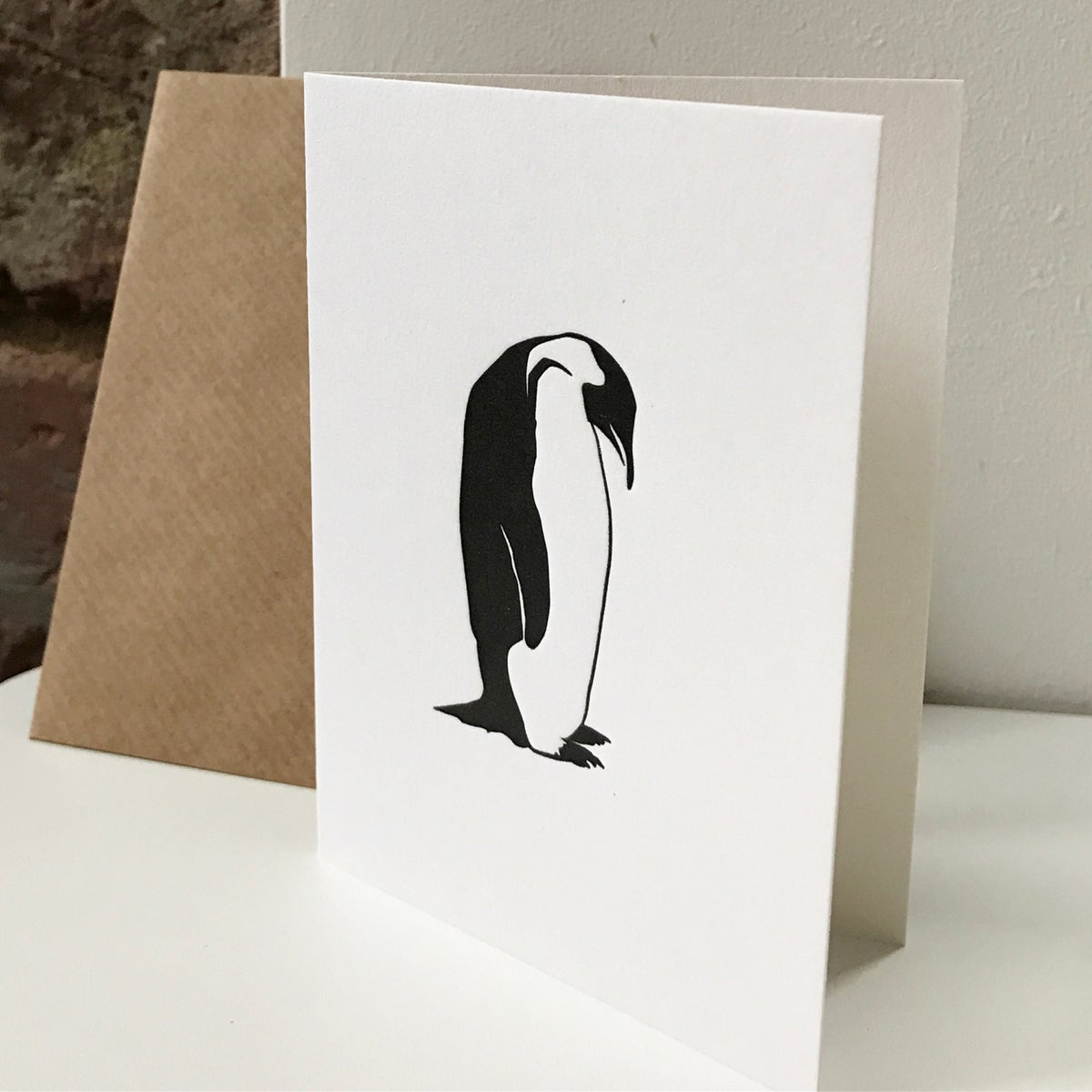Image of LETTER PRESS NOTE CARDS BY PENGUIN INK