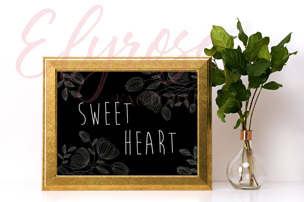 Image of Affiche Surnom - Sweet Heart
