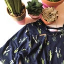 Image 3 of Baby/Girls Navy Cactus Knot Knit