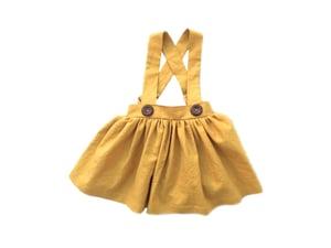Image of Scout Finch Suspender Skirt in Mustard Linen