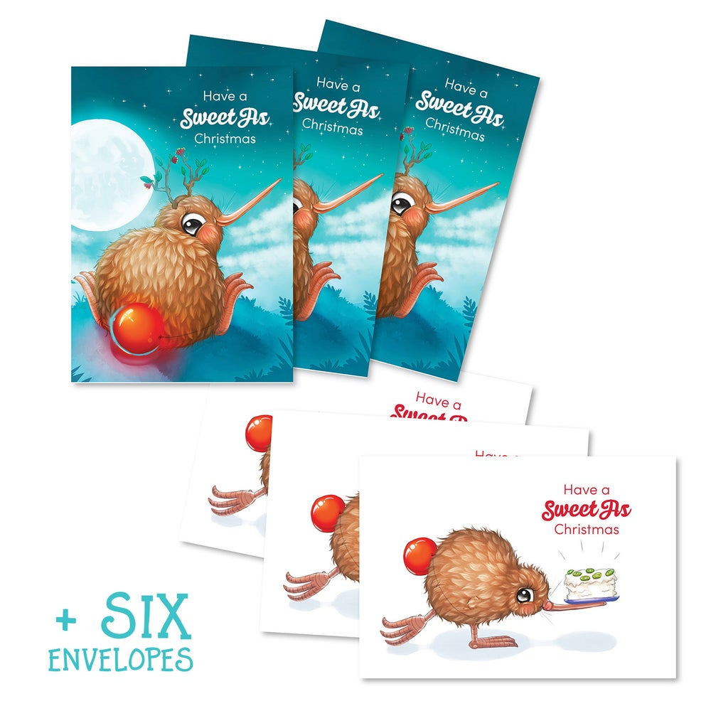 Image of 6 Pack Kuwi Christmas Cards