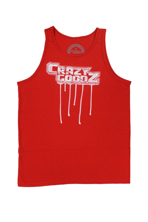 Image of CG Drip Logo Red Tank