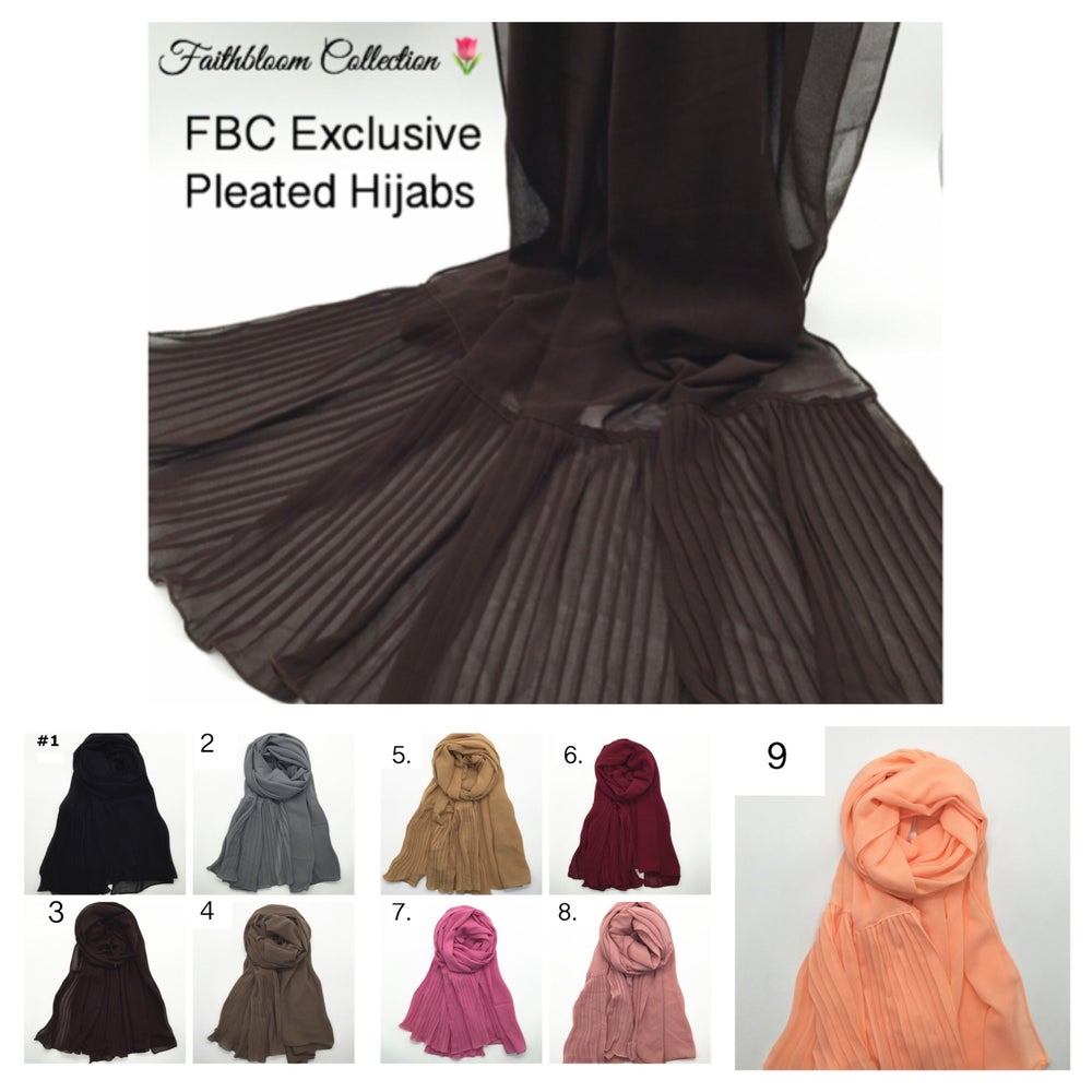 Image of FBC Exclusive Pleated Hijabs (Originally £9.99)