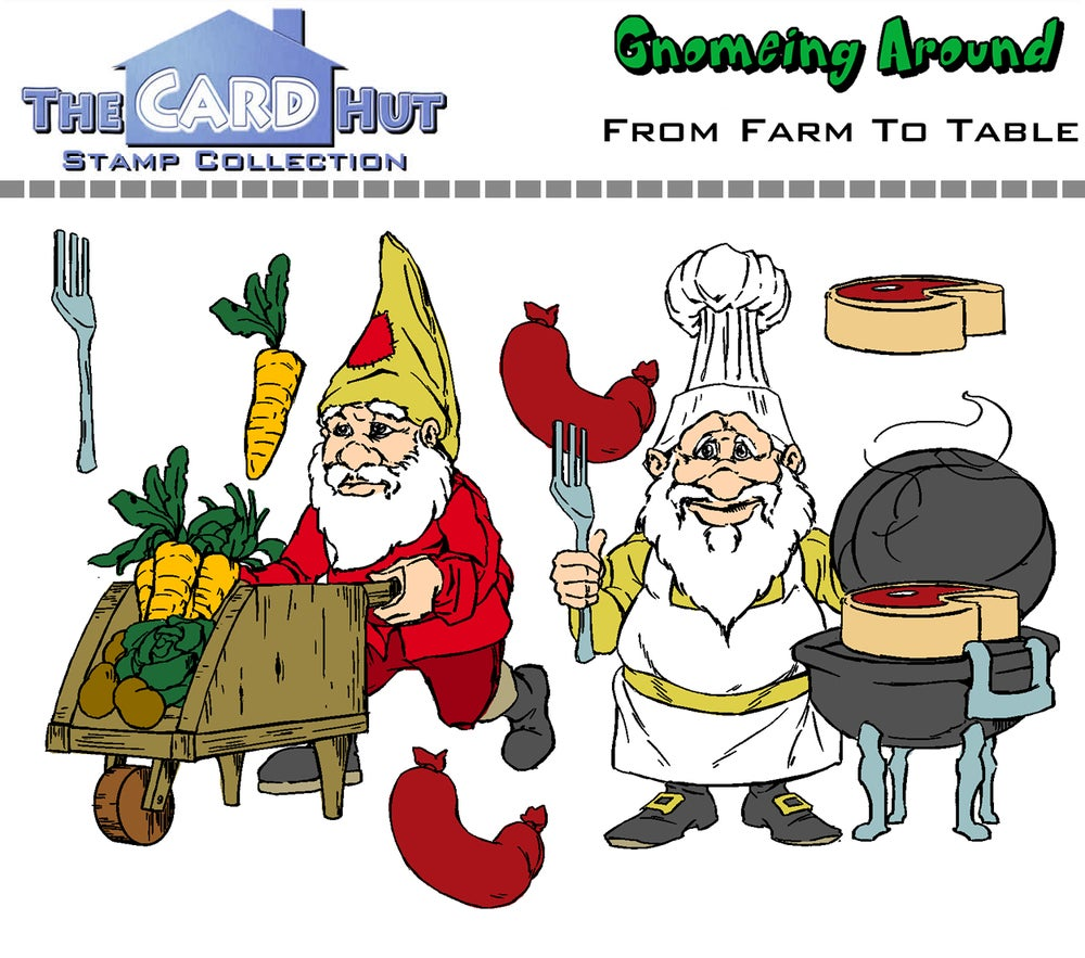 Gnomeing Around: From Farm To Table - Stamp Set