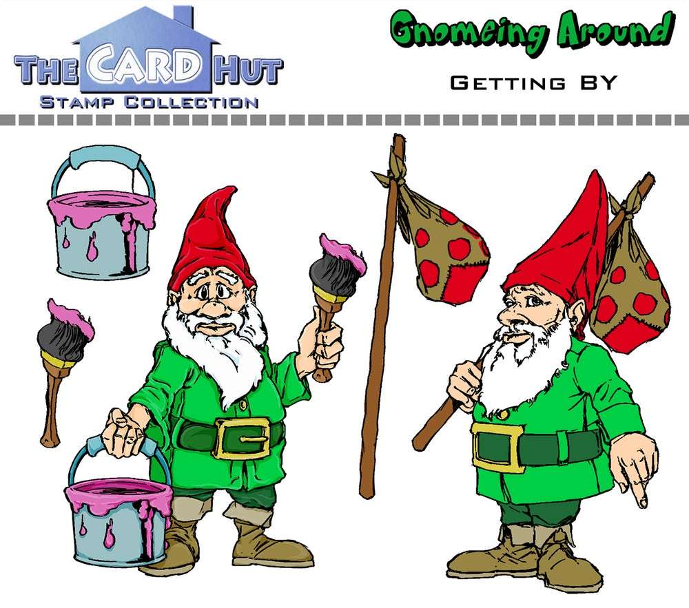 Gnomeing Around: Getting By - Stamp Set
