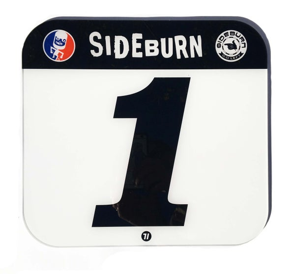 Image of Sideburn Perspex Race Number Plate #1