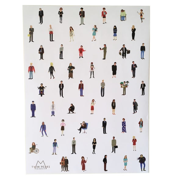 Image of The People of Twin Peaks Poster