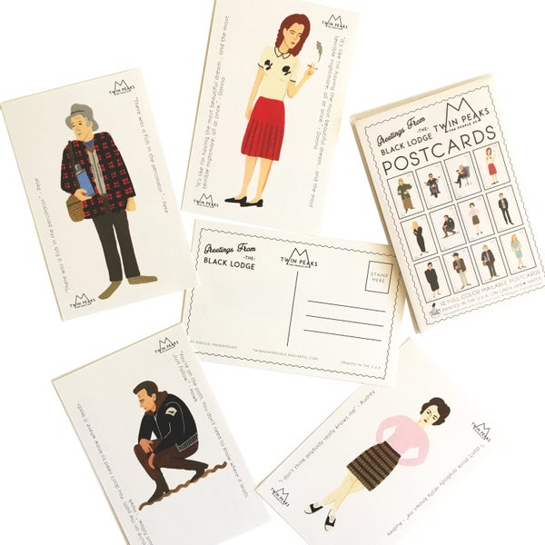 Image of The People of Twin Peaks Postcard Set
