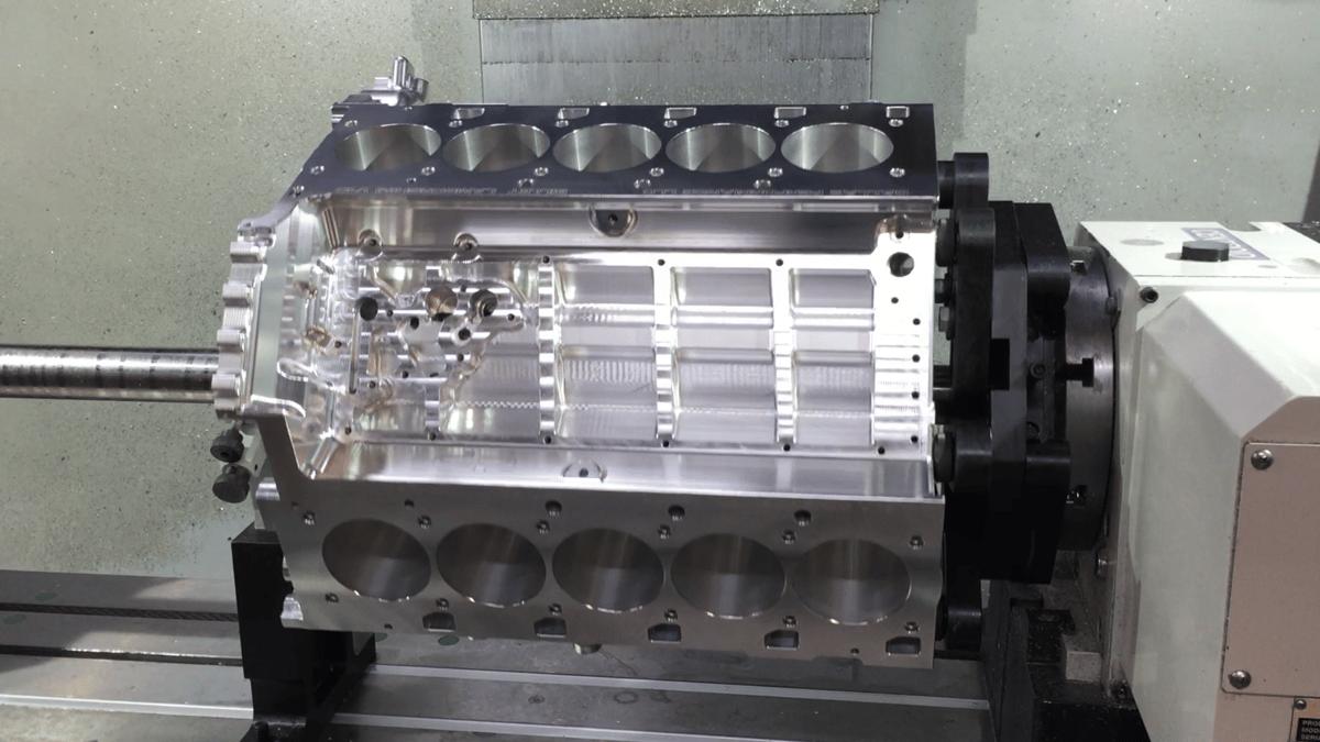 Img on Corvette Engine Block