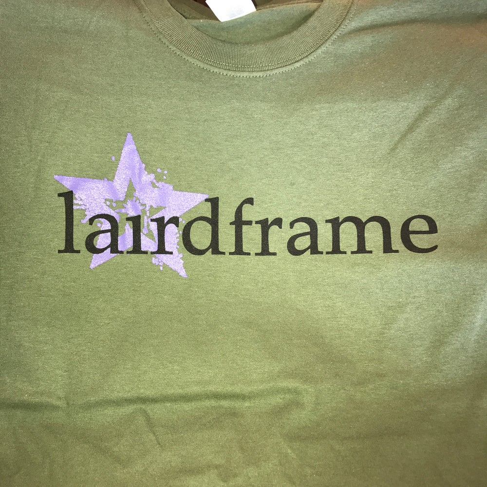Image of TSHIRT- LF Star Logo Army Green OR Light Grey