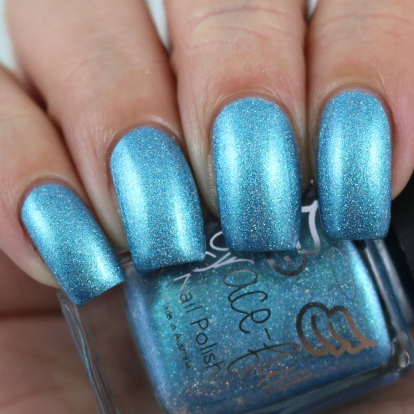 Image of Peg's Ocean - a turquoise blue with silver holo glitter