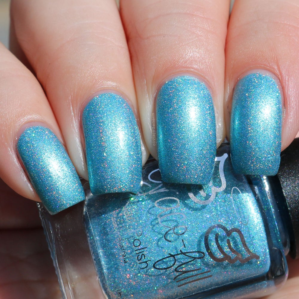 Grace-full Nail Polish — Peg\'s Ocean - a turquoise blue with silver ...
