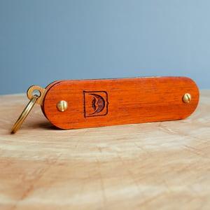 Image of Beard Comb Keychain - Personalized Pocket Grooming Set Made of Premium Hardwoods
