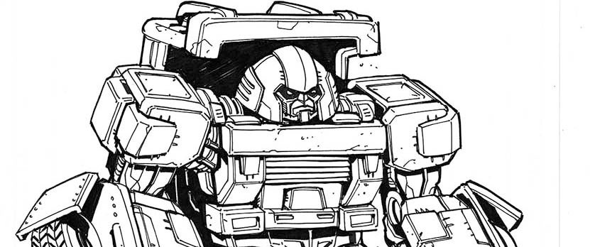 Image of Transformers  Ongoing - Incentive SketchCover inks featuring Brawn